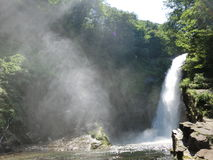 Wasserfall in einem Wald Lizenzfreies Stockbild