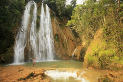 Wasserfall EL Limon Lizenzfreie Stockfotos