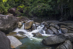 Wasserfall-Fluss Lizenzfreie Stockbilder