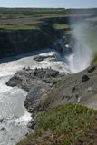 Wasserfall Gullfoss lizenzfreie stockbilder