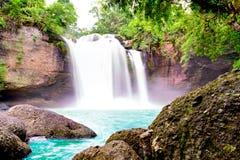 Wasserfall Haew Suwat in Thailand Lizenzfreies Stockbild