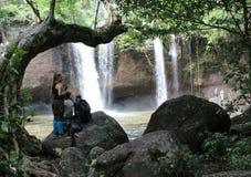 Wasserfall Haewsuwat Lizenzfreies Stockbild