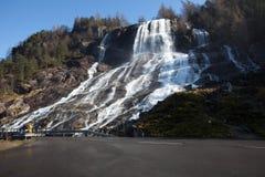 Wasserfall in Hardanger, Norwegen Lizenzfreies Stockfoto