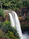 Wasserfall in Hawaii Stockfotos