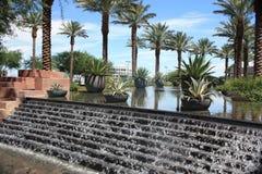 Wasserfall-, Himmel-und Palme-Landschaft Lizenzfreie Stockbilder