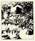 Wasserfall-Hintergrund-Vektor Lizenzfreie Stockfotos