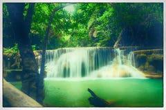 Wasserfall Huay Mae Kamin Lizenzfreies Stockbild