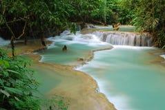 Wasserfall im Dschungel, kuangsi Stockbilder