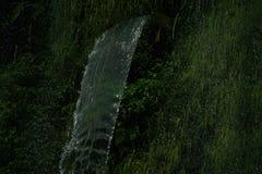 Wasserfall im Dschungel war dicht stockbild