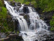 Wasserfall im Frühjahr Stockfoto
