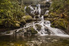 Wasserfall im Früjahr lizenzfreie stockfotos