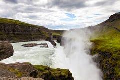 Wasserfall im goldenen Kreis von Island Lizenzfreies Stockbild