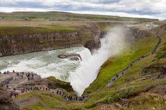 Wasserfall im goldenen Kreis von Island Lizenzfreie Stockfotos