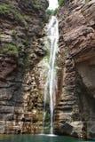 Wasserfall im Guoliang-Dorf lizenzfreies stockfoto