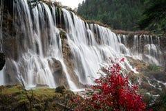 Wasserfall im Herbst Stockbild