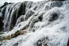 Wasserfall im Herbst Lizenzfreies Stockfoto