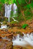 Wasserfall im Holz in der Landschaft Makedonien Lizenzfreie Stockfotografie