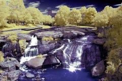 Wasserfall im Infrarot Stockfoto
