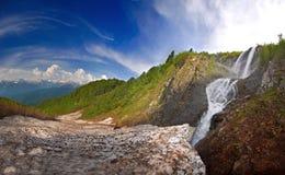 Wasserfall im Kaukasus Krasnodar-krai Lizenzfreie Stockfotografie