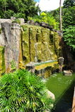 Wasserfall im Malacca-botanischen Garten Lizenzfreie Stockfotografie