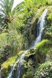 Wasserfall im Meditation Garten in Santa Monica, Vereinigte Staaten Lizenzfreie Stockfotos