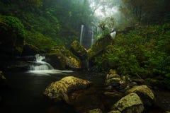Wasserfall im Süden von Laos stockbild