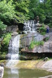 Wasserfall im Staatsangehörigen dendrological stockbild