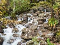 Wasserfall im Tal von Glen Nevis, Schottland lizenzfreie stockfotografie
