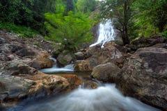 Wasserfall im tiefen Wald Stockbilder