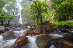 Wasserfall im tiefen Wald Lizenzfreie Stockfotografie