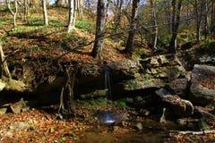 Wasserfall im tiefen Wald im nächsten Dorf stockbilder
