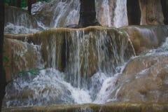Wasserfall im Wald stockbilder