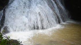 Wasserfall im Wald tropisch stock video footage