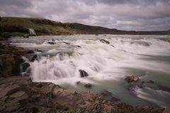 Wasserfall in Island lizenzfreies stockbild
