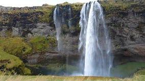 Wasserfall in Island stock video footage