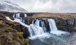 Wasserfall in Island Lizenzfreie Stockfotografie
