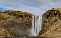 Wasserfall in Island Stockbilder