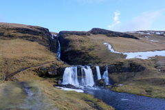 Wasserfall in Island Stockfoto