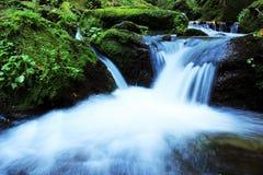 Wasserfall - Kaskade im Herbstwald Lizenzfreies Stockbild