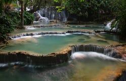 Wasserfall-Kaskaden stockfoto