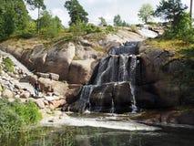 Wasserfall in Kotka, Finnland lizenzfreies stockbild