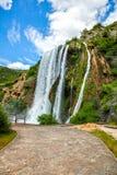 Wasserfall Krcic in Knin Stockbild
