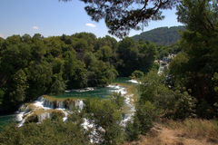 Wasserfall in Krka Lizenzfreie Stockfotos