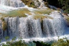 Wasserfall in Krka Lizenzfreies Stockbild