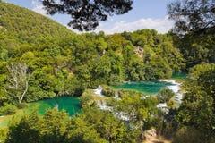 Wasserfall Krka in Kroatien Stockfoto