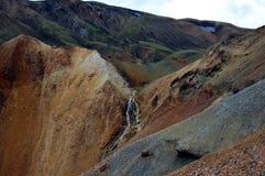 Wasserfall in Landmannalaugar, Island. Stockfoto