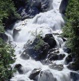 Wasserfall-Landschaft die Schweiz Wallis Val de Bagne Hydropower lizenzfreie stockfotos