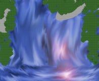 Wasserfall mit mystischem Licht Lizenzfreie Stockfotos