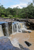 Wasserfall nach starkem Regen Stockfotografie