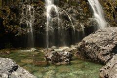 Wasserfall in Nationalpark Fiordland Lizenzfreie Stockbilder